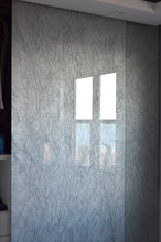 """Jewel Rock"" Silver Silk OrganicA™ Laminated Glass Metallic Fabric"