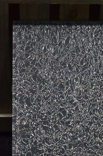 Silver/Gray Spun Metallic Mesh OrganicA™ Laminated Glass