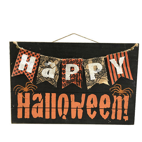 Happy Halloween Sign-Black/Orange   SKU 30054650