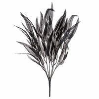 "20"" Faux Feather Halloween Bush- Purple/Black   SKU 30079187"