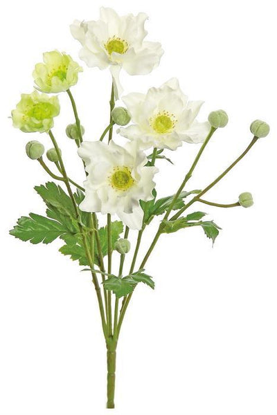 "13"" Anemone Bush- Cream  SKU 3815-C"