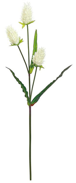 "23"" Thistle Blossom Spray- Cream   SKU 4061-C"