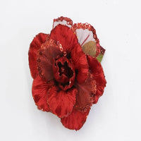 "26"" Red Velvet Sheer Rose Flower Stem  SKU 0145903"