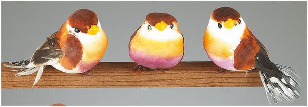 "2"" Brick Color Bird Decor (set of 3) SKU FB0034"