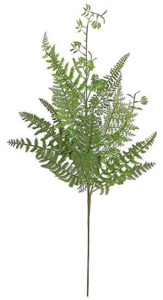 "32"" Mixed Fern Spray-Green  SKU FL3757/L-G"