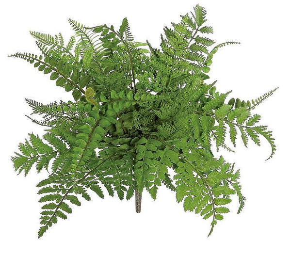 "17"" Mixed Fern Bush-Green  SKU FL3758-G"