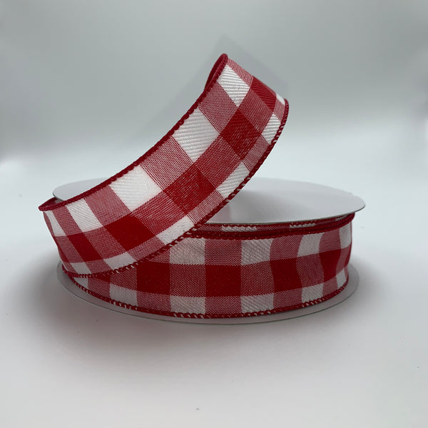 "1.5"" x 50YD Red/White Check Ribbon - TR93309-119"