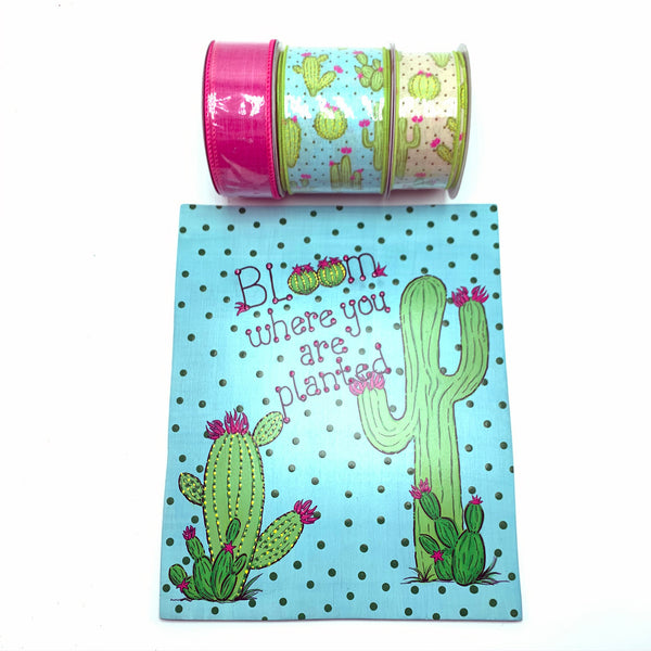 Cactus Ribbon, Attachment, & Sign Bundle - Artisan Made