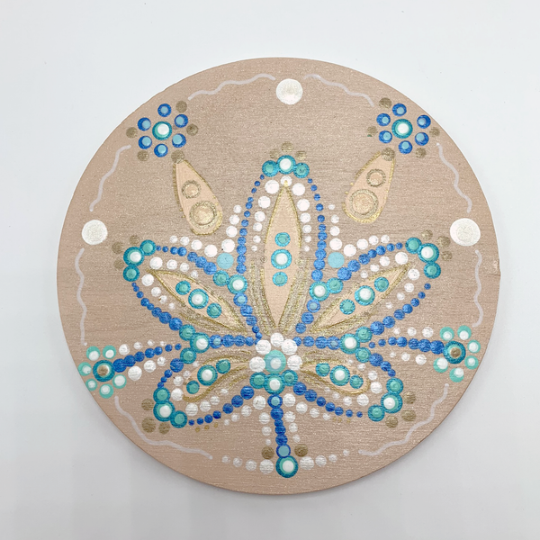 "6"" x 6"" Handpainted EXCLUSIVE Flower Center - Sand Dollar"