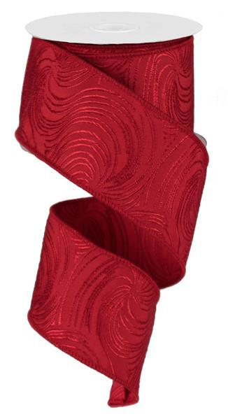 "2""x 100 yd Cyclone Ribbon- Red NO WIRE  SKU RBP2343"