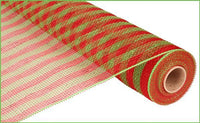 "21""  Thin Stripe Mesh- Lime/Red SKU RE1014A9"