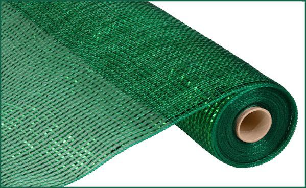 "21""  Deluxe Wide Foil Mesh- Emerald   SKU RE104106"
