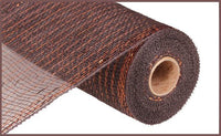 "10"" Metallic Value Mesh- Chocolate w/Copper Foil  SKU RE8001E2"