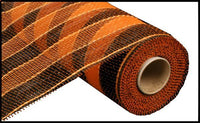 "10"" Stripe Mesh- Black/Orange Stripe  SKU RE1316E8"