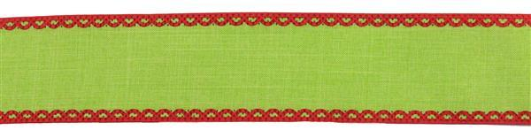 "1.5"" Royal Burlap Ribbon- Red/Lime SKU RG01834W1"