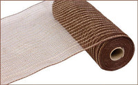 "10"" Poly Jute Mesh- Chocolate/Natural SKU RY800531"