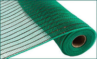 "10""  Matte Wide Foil Mesh- Emerald/Matte Red   SKU RY8500A1"