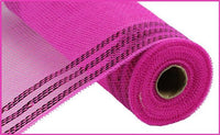 "10"" Border Stripe Metallic Mesh- Hot Pink SKU RY850211"