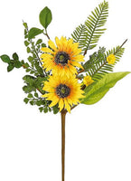 "17"" Sunflower & Blossom Pick  SKU PM1659"