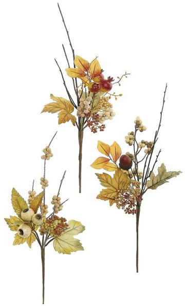 "14"" Mixed Berry & Autumn Foliage Pick-3 assorted  SKU PM2332"