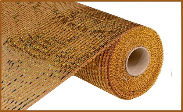 "10""  Deluxe Wide Foil Mesh- Gold/Brown/  SKU RE134163"