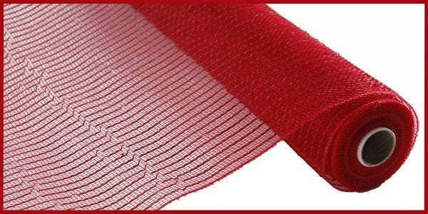"10"" Wide Foil Mesh-Red w/Red Foil  SKU RE136624"