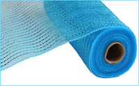 "10"" Wide Foil Mesh-Turquoise  SKU RE136644"