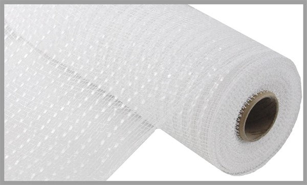 "10"" Wide Foil Mesh-White w/White Film  SKU RE1366R1"