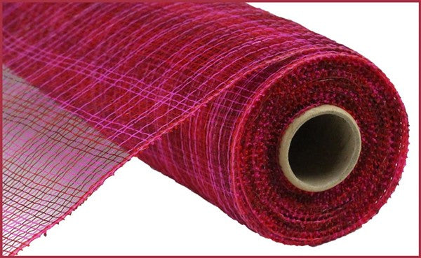 "10"" Multi Stripe Mesh- Hot Pink/Red/Burgundy   SKU RE1382RE"