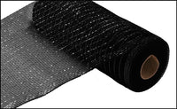 "10"" Metallic Value Mesh- Black w/ Black Foil  SKU RE800102"