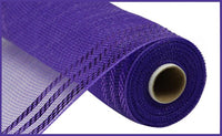"10"" Border Stripe Metallic Mesh- Purple  SKU RE850223"
