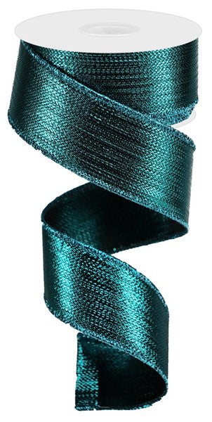 "1.5""  Metallic Ribbon- Teal  SKU RG0139971"