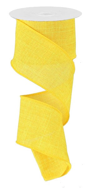 "2.5""  Royal Burlap Ribbon- Yellow  SKU RG127929"