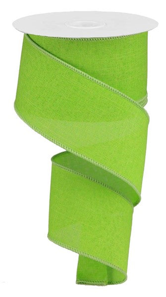 "2.5"" Royal Canvas Ribbon- Lime Green  SKU RG1279E9"