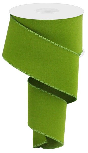 "2.5""  Indoor Velvet Ribbon- Moss Green  SKU RL194336"