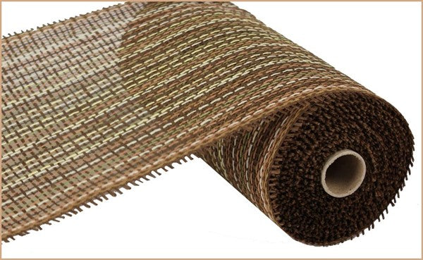 "10"" Woven Paper Mesh- Multi Brown  SKU RR800762"