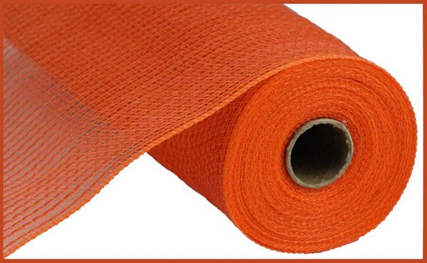 "10.5"" Faux Jute/PP Stripe Mesh - Orange  SKU RY831220"