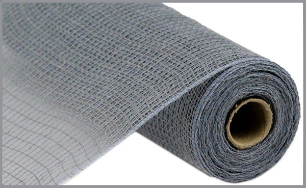 "10"" Faux Jute/PP Check Mesh -Grey  SKU RY831310"