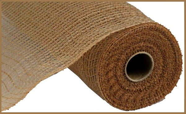 "10"" Faux Jute/PP Check Mesh -Natural SKU RY831318"