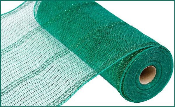 "10"" Wide Tinsel/PP/ Foil Mesh- Emerald SKU RY840106"
