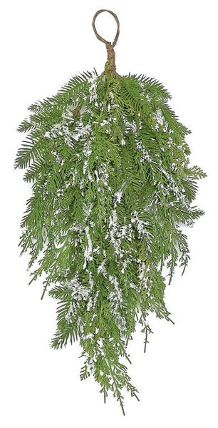 "26"" Snowy Mixed Hanging Swag  SKU XP2051-G"