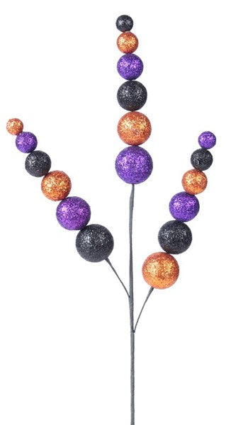 "24"" Glitter Ball Spike Spray- Purple/Copper/Black SKU XS5738P8"