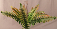 "12"" Wild Fern Bush- Green/Burgundy/Brown SKU CS12737"