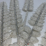 "33"" Glitter Feather Spray-White  SKU T-1149"
