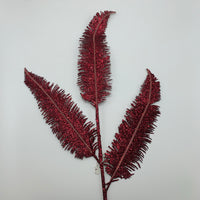 "30"" Glitter Feather Spray-Red SKU T-1150F"