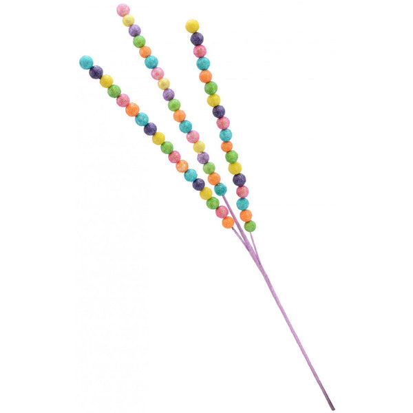 "25"" Beaded Glitter Ball Spray- Pastel SKU EC56492C"