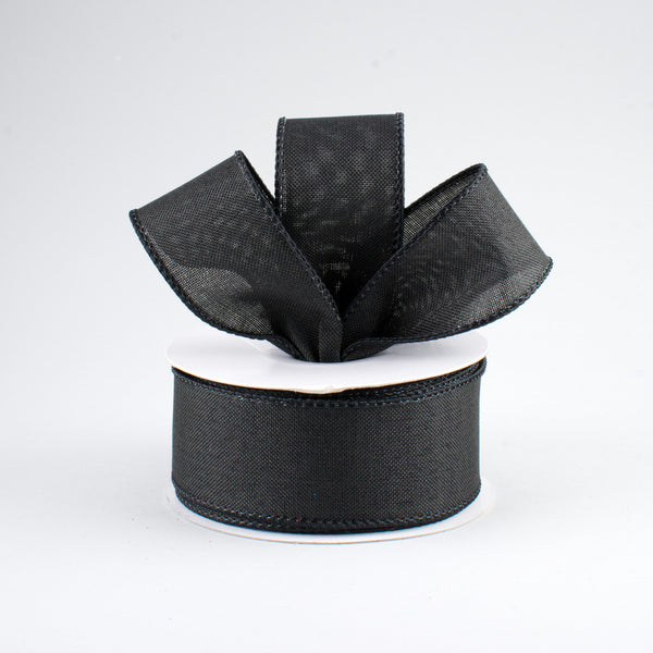 "1.5"" Royal Canvas Ribbon- Black SKU RG127802"