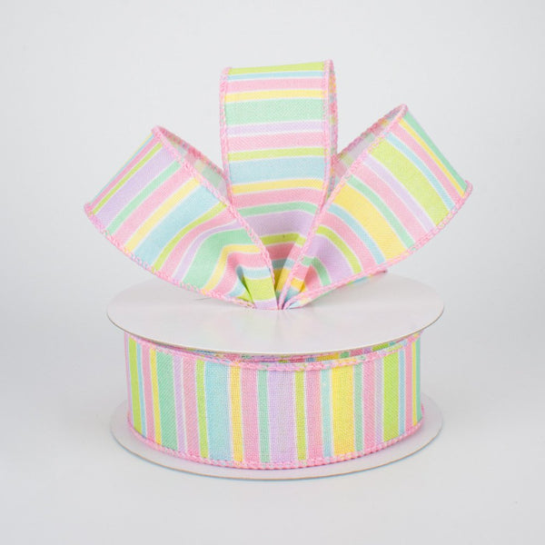 "1.5"" Pastel Stripe Ribbon - SKU RG01831"