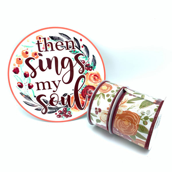 Bold Blooms Sign and Ribbon Bundle