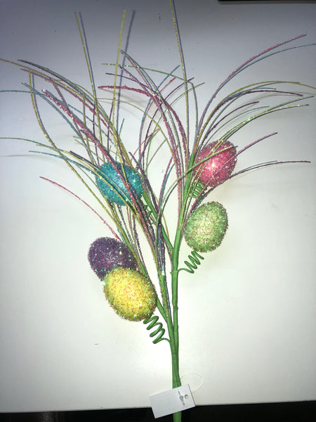 "27"" Tinsel Easter Egg Pick SKU HE4127"